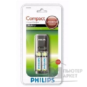Philips �������� ����������  Compact Charger SCB1280+2 AA 2450mAh
