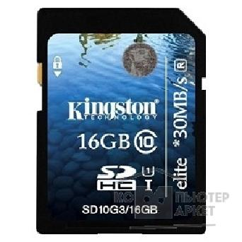 Карта памяти  Kingston SecureDigital 16Gb  SD10G3/ 16GB