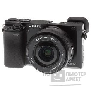 Цифровая фотокамера Sony Alpha A6000YB kit  E PZ 16-50мм f/ 3.5-5.6 OSS и E 55-210мм f/ 4.5-6.3 OSS [ILCE6000YB.CEC] черный