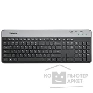 Клавиатура Defender Keyboard  Assistant SM-670 USB BG черн.- Сер.