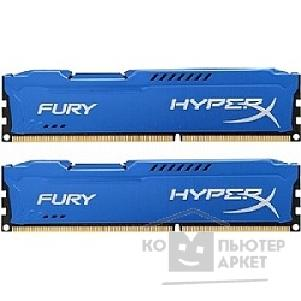 Модуль памяти Kingston DDR3 DIMM 16GB PC3-10600 1333MHz Kit 2 x 8GB  HX313C9FK2/ 16 HyperX FURY Blu Series CL9
