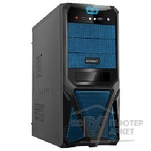 Корпус Crown Корпус Miditower CMC-SM161 black/ blue ATX CM-PS400W