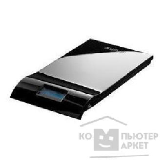 носители информации Verbatim HDD 500Gb  USB2.0 Portable HDD [47576] Insight LCD Display Shiny Black