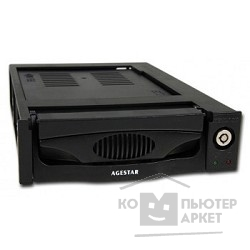 Контейнер для HDD AgeStar Сменный бокс  MR3-SATA SW -3F/ SR3P-SW-3F BLACK switch 3fan