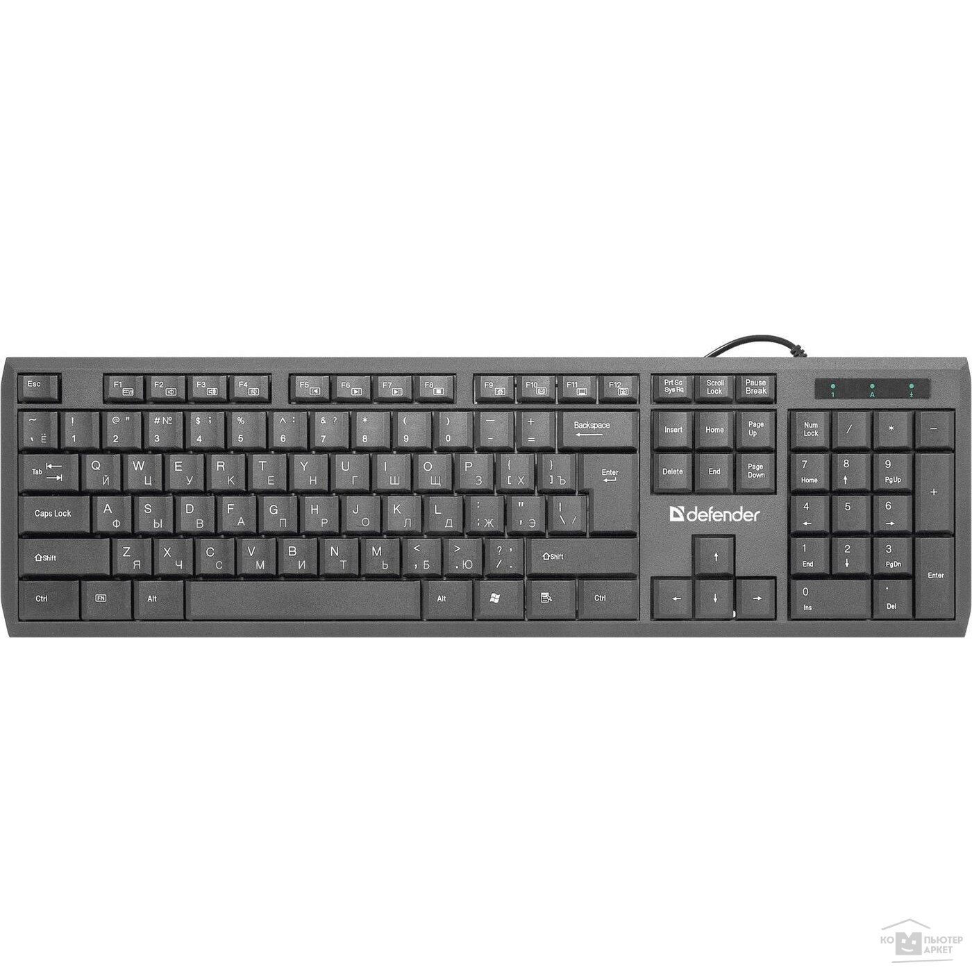 Клавиатура Defender OfficeMate SM-820 Black USB [45820]