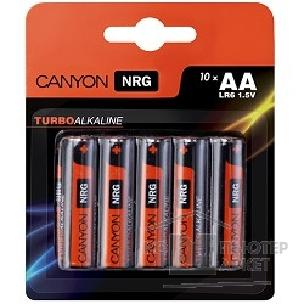 Батарейка Canyon NRG alkaline battery AA, 10pcs/ pack. S6ALKAA10