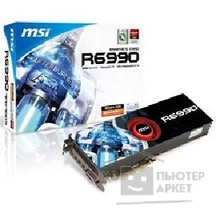 Видеокарта MicroStar MSI R6990-4PD4GD5 RTL, 4GB GDDR5, FAN, DVI-I, mDP*4, PCI-E