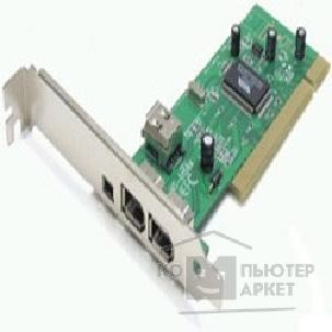 Контроллер Orient TR-1394, FireWire PCI card, 3 port-ext, 1 port-int