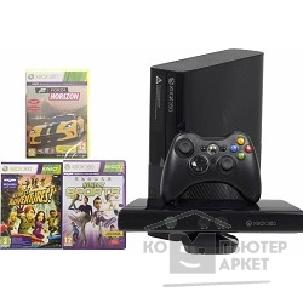 Игровая консоль Microsoft Xbox 360 E 4GB N7V-00088 черный + Kinect Bundle + 3 игры: Kinect Sports, Forza Horizon, Kinect Adventures