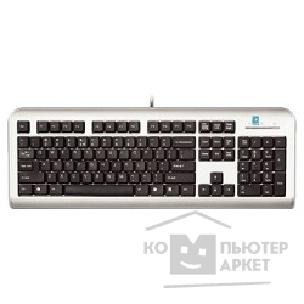 Клавиатура A-4Tech Keyboard A4Tech LCD-720, USB silver/ black