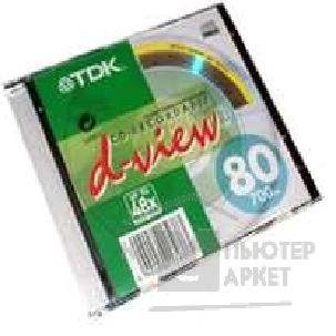 Диск Tdk CD-R  700 Mb 80 min 48X/ 52X Jewel Case [CD-R80JCA]