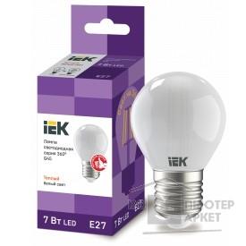 светодиодные лампы  Iek LLF-G45-7-230-30-E27-FR Лампа LED G45 шар матов. 7Вт 230В 3000К E27 серия 360°  /светодиодные лампы  Iek LLF-G45-7-230-30-E27-FR Лампа LED G45 шар матов. 7Вт 230В 3000К E27 серия 360°