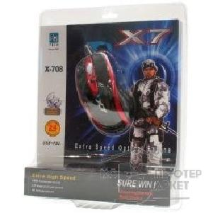 Мышь A-4Tech A4Tech X-708, USB+PS/ 2, пров. опт. мышь, 5кн, 1кл-кн