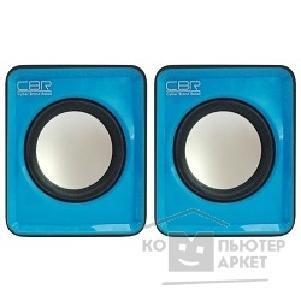 CBR CMS 90 Blue, Акустическая система 2.0, питание USB, 2х3 Вт (6 Вт RMS), материал корпуса пластик, 3.5 мм линейный стереовход, регул. громк., длина кабеля 1 м, цвет голубой/CBR CMS 90 CMS 90 Blue