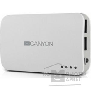 Аксессуар Canyon CNE-CPB78W White color portable battery charger with 7800mAh, micro USB input 5V/ 1A and USB output 5V/ 1A max.