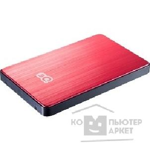 "носитель информации 3Q Portable HDD 500GB, Red&black, Alu-mini, 2.5"" SATA HDD 5400rpm inside, USB3.0, HDD-T223M-RB500 [66925]"