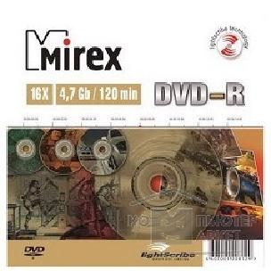 Диск Mirex DVD-R  16-x, 4.7Gb, Light Scribe Slim case [UL130201A1S] диски