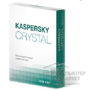 ����������� ����������� Kaspersky KL1901RBBFS  CRYSTAL Russian Edition 2-Desktop 1 year Base Box