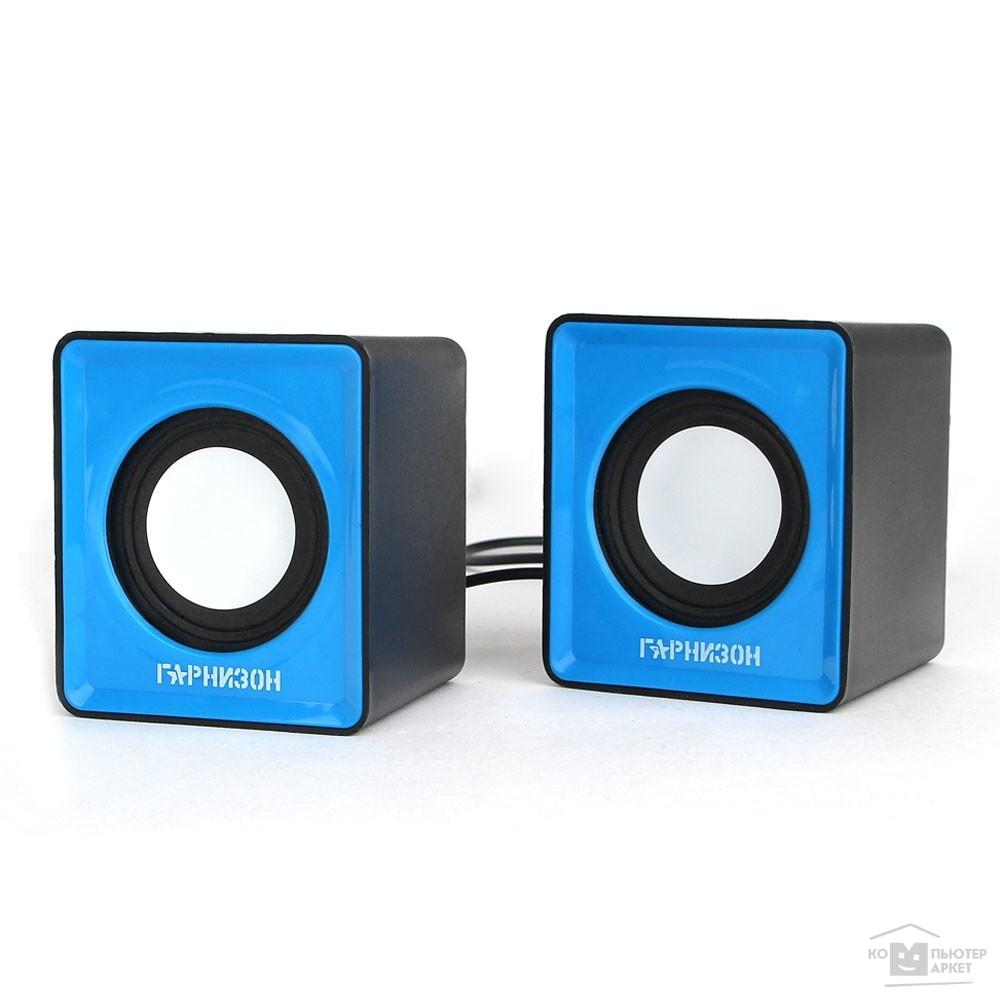 Гарнизон GSP-100, синий/черный, 2 Вт, материал- пластик, USB - питание/Гарнизон GSP-100 GSP-100