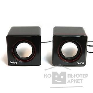 Dialog Colibri AC-04UP BLACK-RED {акустические  колонки 2.0, 6W RMS, питание от USB}/Dialog AC-04UP AC-04UP BLACK-RED