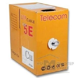 Кабель Telecom Кабель UTP кат. 5e 4 пары 305м  0.40mm CU синий ПВХ [UTP4-TC1000C5EL-CU-IS-BL]