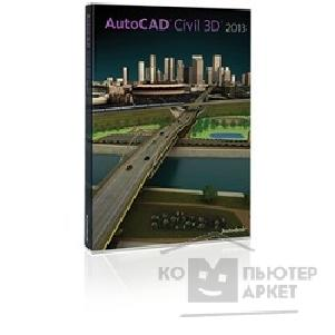 Программное обеспечение Autodesk 237E1-205111-1001  AutoCAD Civil 3D 2013 Commercial New SLM DVD RU