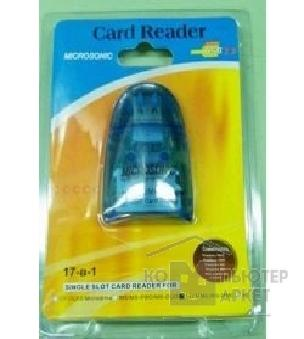 ���������� ���������� Rover Computers USB 2.0 Card Reader 17 in 1 ext. Blue RTL [MCR603]