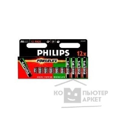 Philips Эл. пит.  LR6-12BL box POWERLIFE 12 шт. в уп-ке