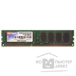 Модуль памяти Patriot DDR3 DIMM 1GB PC3-10600 1333MHz PSD31G13332 81