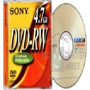 Диск Verbatim DVD-RW 2x, диск 4.7 Gb, Sony, Jewel Case  DMW47