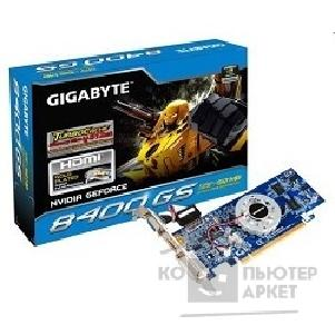 Видеокарта Gigabyte GV-N84STC-512I, RTL GF8400, TC to 512MB on board DDR 128MB , DVI-I HDMI D-Sub  PCI-E