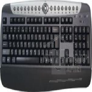 Клавиатура Dialog KM-204SP, Multimedia Keyboard, PS/ 2 + Palm rest