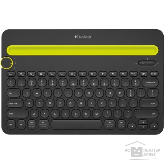 Клавиатура Logitech 920-006368  Multi-Device Keyboard K480 Black Bluetooth