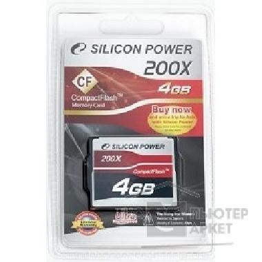 Карта памяти  Silicon Power Compact Flash 4Gb  SP004GBCFC200V10 200-x