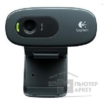 Цифровая камера Logitech 960-001063/ 960-000636  HD Webcam C270, USB 2.0, 1280*720, 3Mpix foto, Mic, Black