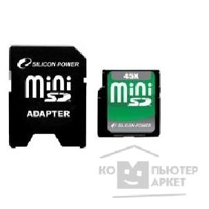 Карта памяти  Silicon Power Mini SecureDigital 2Gb , 45x SP002GBSDM045V10