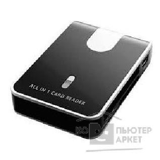 Устройство считывания 3Q 2.0 Card reader / CR/ RT5158/ Ext/ all-in-one/ microSD slot/  black-silver/ rtl CRM028-F