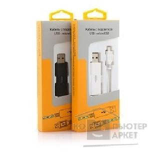 Кабель gmini mCable MEL200 White microUSB with blue light, 80sm