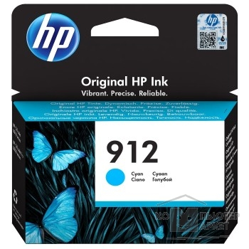 HP 3YL77AE Картридж № 912 струйный голубой (315 стр) {HP OfficeJet 801x/802x}/HP 3YL77AE 3YL77AE