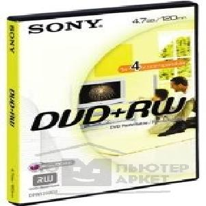Диск Sony DVD+RW 4x, 4.7Gb, , Videobox [DPW120AD2]