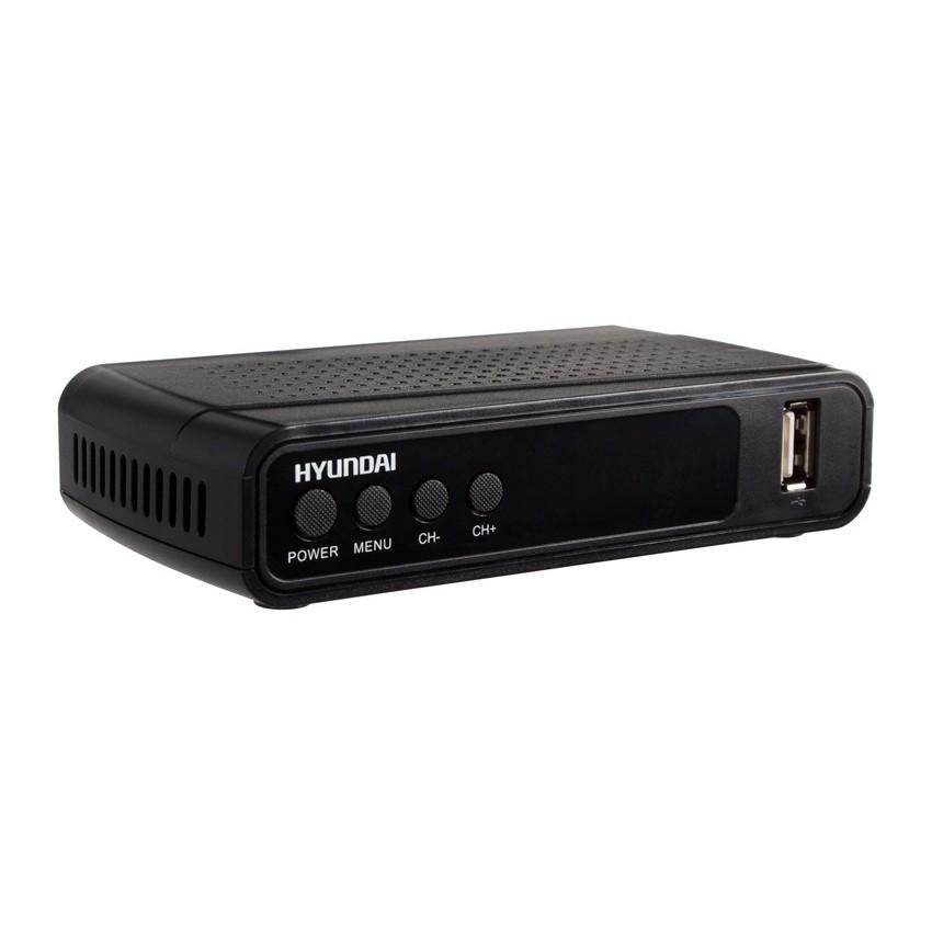 Ресивер DVB-T2 Hyundai H-DVB520 черный/Hyundai H-DVB520 H-DVB520