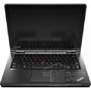 "Ноутбук Lenovo ThinkPad Yoga S1 20CD00BLRT Core i7-4500U/ 8Gb/ 1Tb/ 16Gb SSD/ HD4400/ 12.5""/ FHD/ Touch/ Tablet/ Win 8.1 Professional/ black/ BT4.0/ IPS/ AG/ 8c/ WiFi/ Cam"