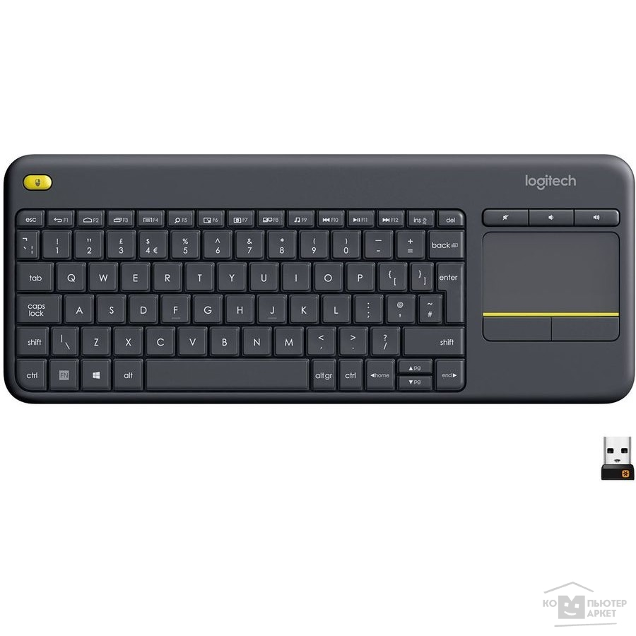 ���������� Logitech 920-007147  Keyboard K400 Wireless Touch Plus USB RTL