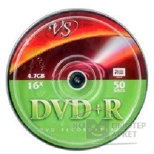Vs Диски  DVD+R 4.7Gb, 16x, Cake Box 50шт.