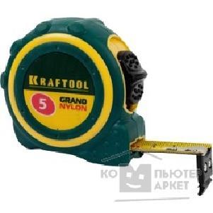 """Kraftool Рулетка """"PRO"""" """"Kraft-Max"""", длинный вылет, нейлон покрытие, упрочненный двухкомп корпус, 5м 27мм 34127-05-27 34127-05-27"""