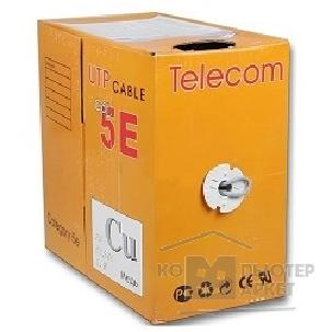 Кабель Telecom Кабель UTP кат. 5e 4 пары 305м  0.40mm CU [UTP4-TC1000C5EL-CU-IS] GREY