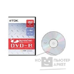 Диск Tdk DVD-R 16x, 4.7 Gb,  Scratch Proof  Slim Case, 10 шт.