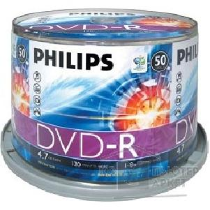 ���� Philips DVD-R  ����� 4,7Gb 16�, 50��, Bulk
