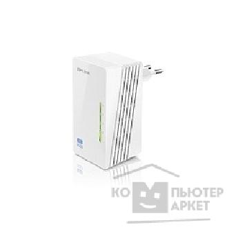 Сетевое оборудование Tp-link TL-WPA4220 300Mbps Wireless AV500 Powerline Extender, 500Mbps Powerline Datarate, 2 10/ 100Mbps Fast Ethernet ports, HomePlug AV, Plug and Play, WiFi Clone, Single Pack