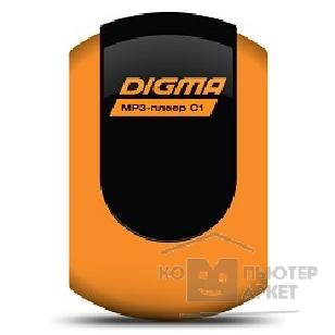 Плеер Digma 738800 Плеер Flash  C1 4Gb orange FM \MP3\WMA\Clip